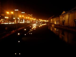 小樽運河(夜)