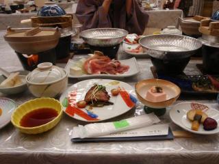 山麓荘夕食