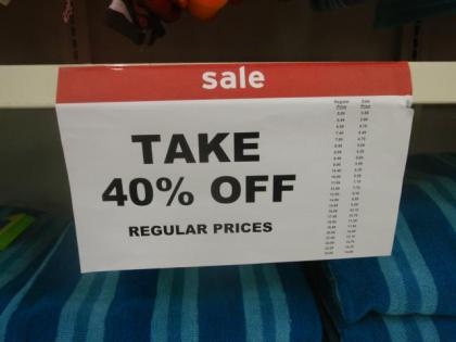 TAKE 40%