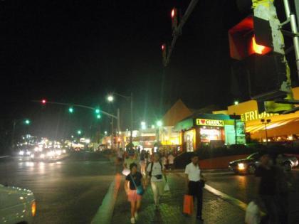 夜の中心街