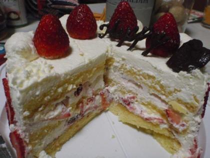 ケーキの中