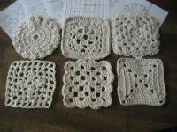 かぎ針編みコースターの編み図