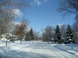 除雪されない道路