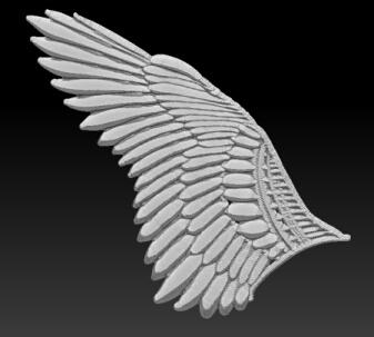 zbrushで翼1