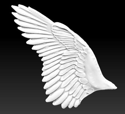 zbrushで翼2