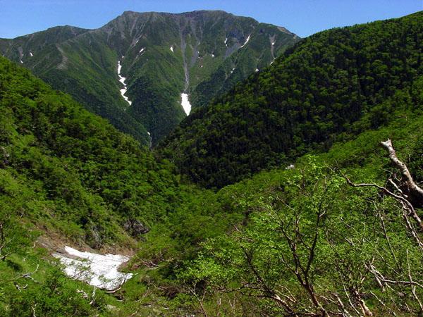 百間洞からの聖岳