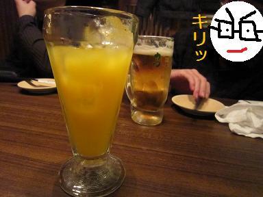 マンゴージュースとビール・・・