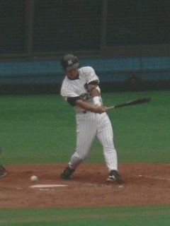 9回代打で登場の里崎