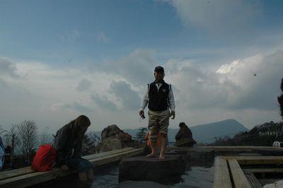ロープウェー山頂 「天空の足湯」3