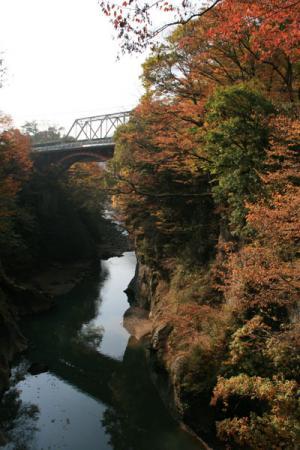 吾妻渓谷の秋