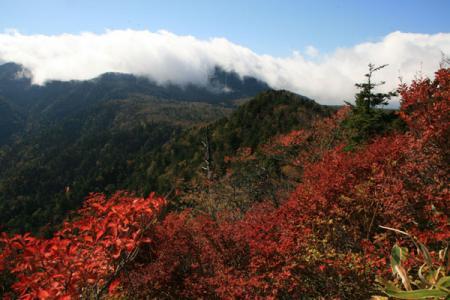 明神岳の秋