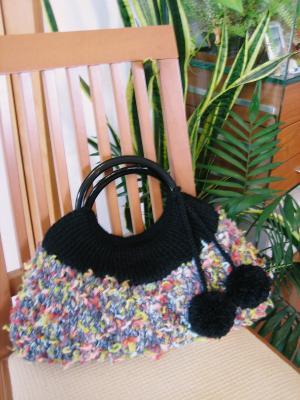 カラフル糸のニットバッグ01
