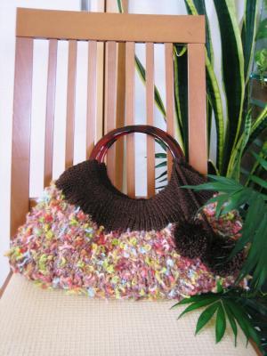 カラフル糸のニットバッグ02