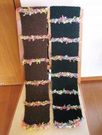 カラフル糸のボーダーマフラー03