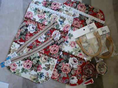 薔薇のミニバッグ♪