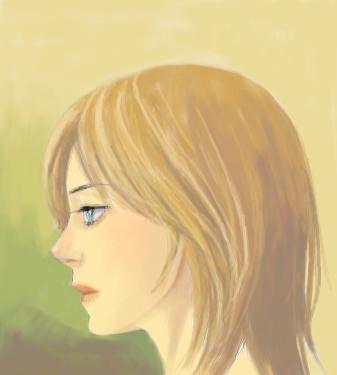 一人で描いてた絵