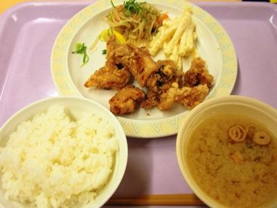 社員食堂の竜田揚げ
