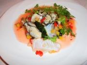 牡蠣カルパッチョと鯛
