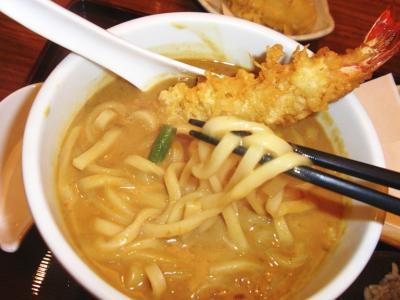 古奈屋池袋東武カレーうどん麺