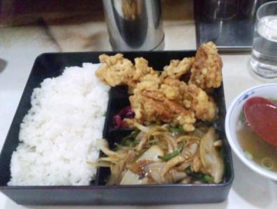 交来炒肉糸(ソーユース)定食700円