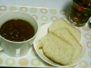 レンズ豆と枝豆のカレー