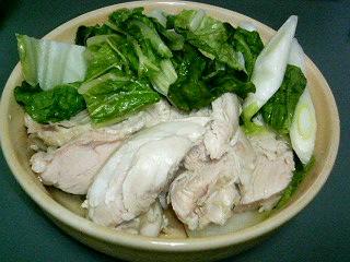 炊飯器鶏の鍋風