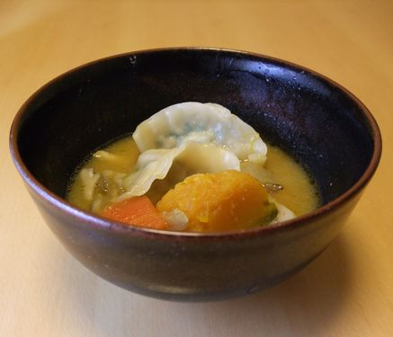 味噌したて水餃子_20100214 全体