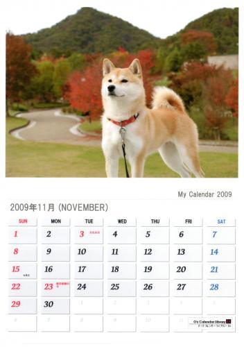 さくらカレンダー11月