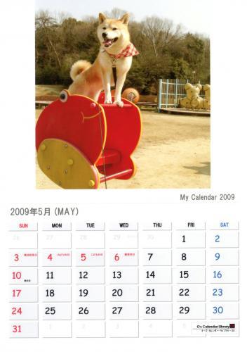 さくらカレンダー 5月