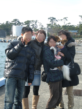 家族で記念写真