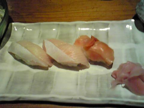 大好きな赤貝も食べた