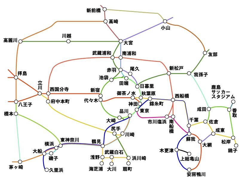 越谷 路線図