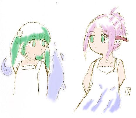 リンとレイナ