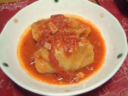 トマト風味ロールキャベツ