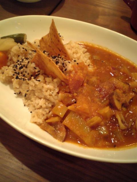 野菜の玄米カレー
