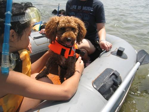ボートに乗るメル_1