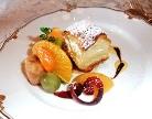デザートのイチゴのミルフィーユ
