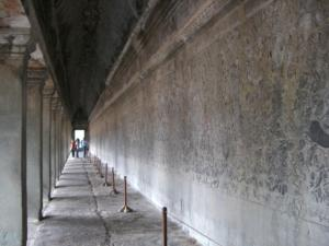 Angkor Wat 入口寄りにある壁画