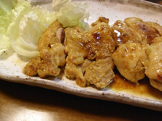 チキンのカレー照り焼き