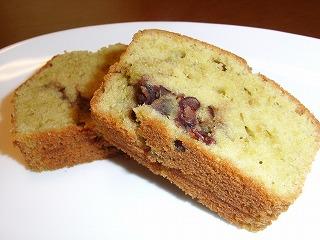 お茶と小豆のパウンドケーキ