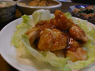 鶏の味噌マヨ