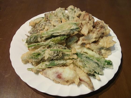 山菜のテンプラです。