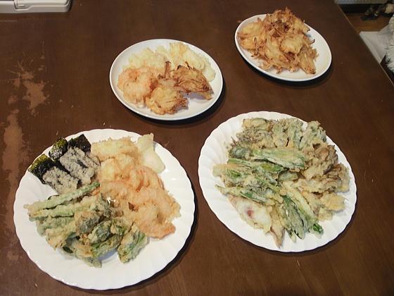 天ぷらを並べてみました。
