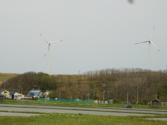 厚田にある風力発電施設