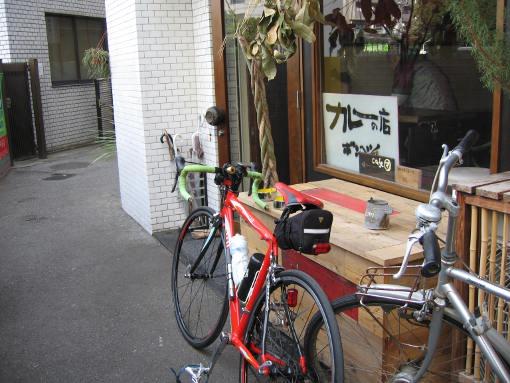 自転車で訪れるとは