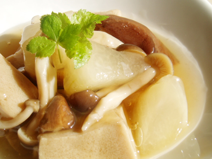 高野豆腐と冬瓜のあんかけ01
