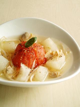 アサリとトマトのスープ01