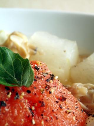 アサリとトマトのスープ02