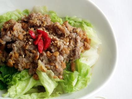 つゆだく!白菜の納豆蒸し01
