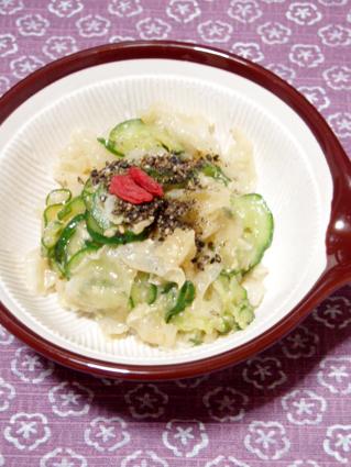 秋冬バージョン きゅうりと白きくらげの味噌和え01